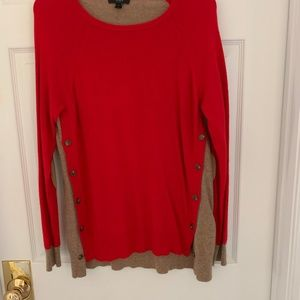 J.Crew sweater  with button detail and elbow pads